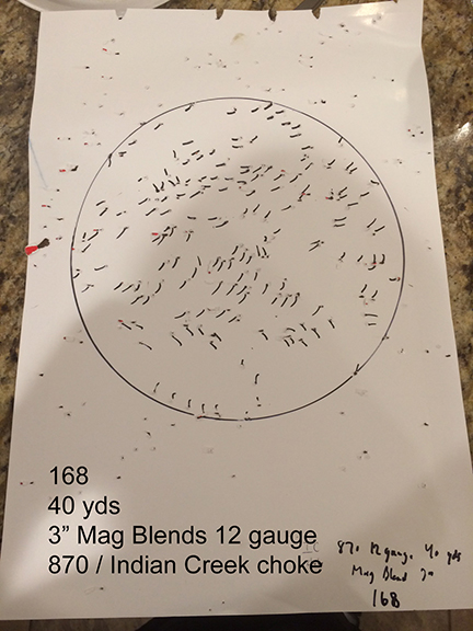 Truglo SSX  643 to tight for Hevi shot #6 or Mag Blend or any turkey
